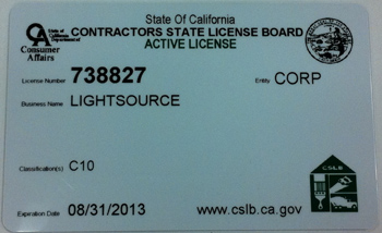 Our State Contractors License